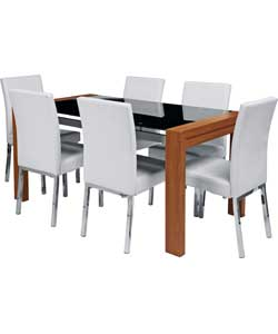 dining table hygena rennes black dining table and 4 black