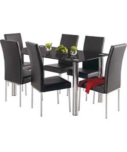 and 4 hygena savannah ext glass dining table and 8