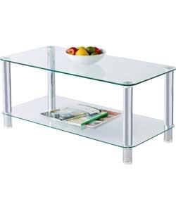 hygena matrix clear glass coffee table hygena matrix white glass