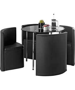Hygena Round Space Saver Black Dining Table And Review Compare