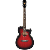 AEG8E - Transparent Red Sunburst