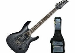 Ibanez S671QM Electric Guitar Trans Gray