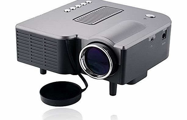 iBaste 60`` Portable Mini New LED  LCD Home Cinema Theater Projector 16:9 4:3 Led Lamps Life Maximum 20000 hours Native Resolution 320*240, Support 1024 * 768,Contrast 300:1,Home Theater with HDMI/VGA