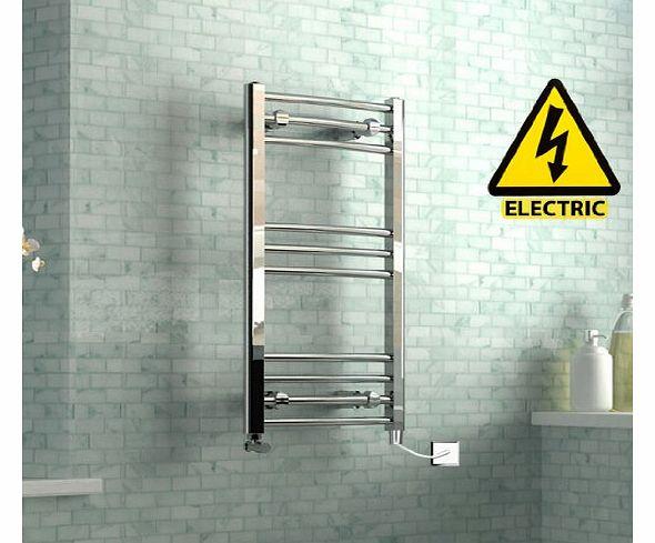 Black 400mm Towel Radiator: Electric Towel Radiators