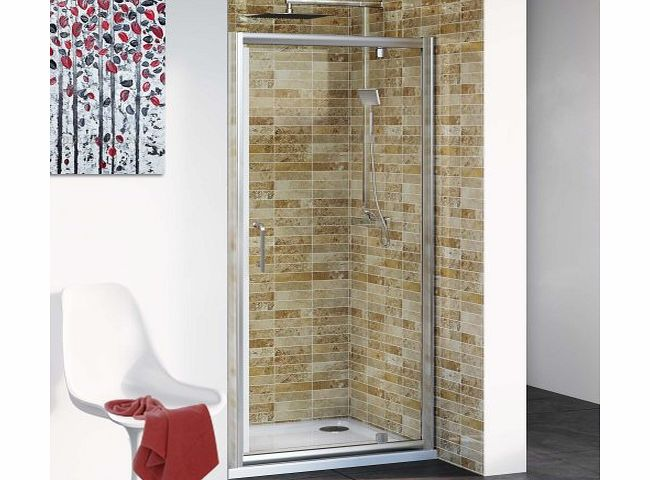 iBath 800 mm Modern Pivot Hinge Glass Cubicle Door Bathroom Alcove