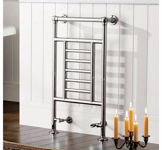 iBath Traditional Chrome Radiator Heated Victorian Bathroom 7 Bar Towel Rail RT04 product image