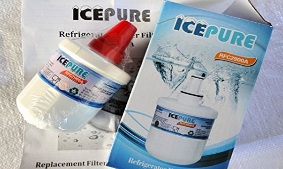 ICEPURE Replacement Compatible Fridge Ice Water Filter Cartridge for Samsung Aqua Pure Plus DA29-00003F Refrigerators - American Style - Side By Side - Fridge Freezers