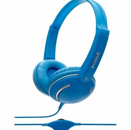 iChoose Limited iChoose® BLUE DJ Stereo Headphones with In-Line Volume Control for Kids, Children, Boys, Girls, Smart-Phone, iPhone, MP3, iPod, Music, Tablet, Computer, Gaming