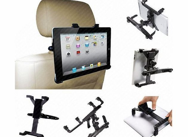 Universal Tablet (8-14``) In-Car Holder Mount Case with 360 Degree Rotation | Tablet Travel Entertainment Accessories by iChoose®