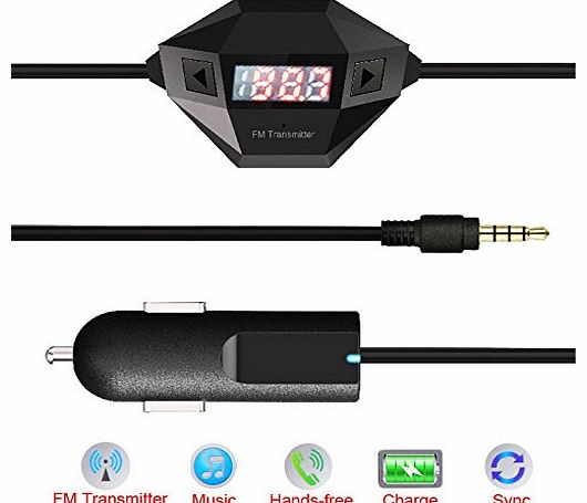 TM)3.5mm Audio Micro USB In Car Universal FM Transmitter