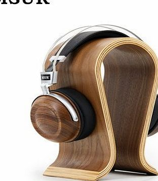 Idalbi IDLB High End MSUR N550 HiFi Wooden Metal headphone headset earphone with Beryllium alloy driver and portelain leather cushion,brown with full pack