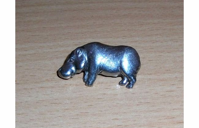 Ideal Gifts 4 U Pewter Hippo Hippopotamus Wild Animal Brooch / Tie Pin - Ideal Gift 4 U - Can be used as a Brooch, Tie Pin, Lapel Pin, Scarf Pin, Hat Pin , Coat Pin etc - product image