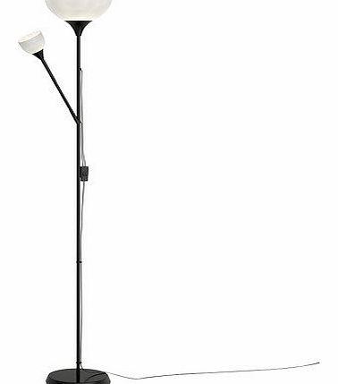 Father Child Uplighter Floor Lamp Chrome