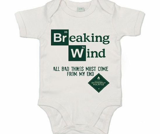 Image is Everything IiE, Breaking Wind, extremely volatile, Baby Boy, Short Sleeve Bodysuit, 0-3m, White