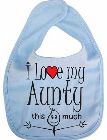 Image is Everything IiE, I love my Aunty this much, Unisex Feeding Bib, Pale Blue