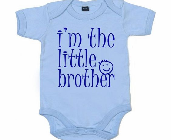 Image is Everything IiE, Im the Little Brother, Baby Boy, Bodysuit, 0-3m, Pale Blue