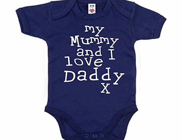 Image is Everything IiE, My Mummy and I love Daddy, Baby Boy Bodysuit, 12-18m, Navy