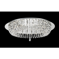Impex Lighting Flush Strass Crystal Ceiling Light Large