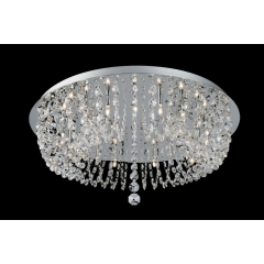 Impex Lighting Flush Strass Crystal Ceiling Light Medium