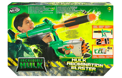 2 awesome Blasters in 1! Incredible Hulk Abomination Buster Blaster is great for boys roleplay! - CLICK FOR MORE INFORMATION