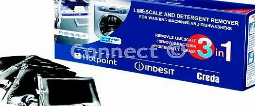 Limescale And Detergent Remover (Box Of 12) (Hotpoint/Creda Spares, Consumable) Helps Kill Bacteria