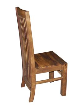 Indian princess dining chairs for Long back dining chairs
