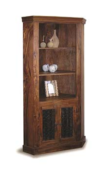 Indian princess tall corner cabinet ip039 living room - Corner tables for living room online india ...