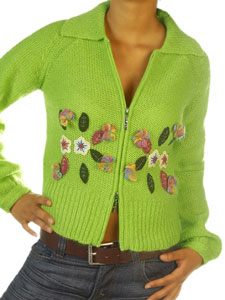 Indian Rose Knitted Jacket