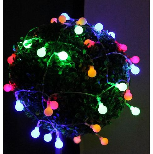Innoo Tech Battery Globe String Lights 40 Round Ball Fairy Lights for Bedroom Indoor Home Garden ...