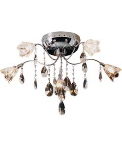 Inspire Crystalia 5 Arm Ceiling Light