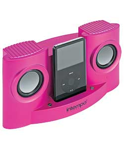 iPod Speaker and Dock with Remote - Pink