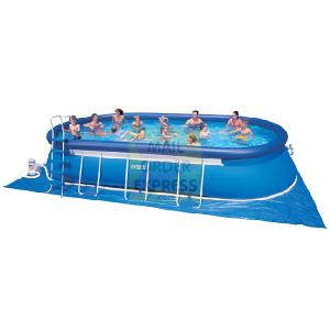 intex 12 x24 oval metal frame pool outdoor toy review compare prices buy online. Black Bedroom Furniture Sets. Home Design Ideas