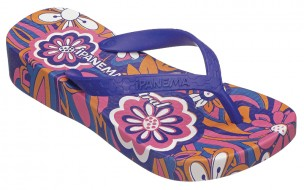 flower power purple flip flop