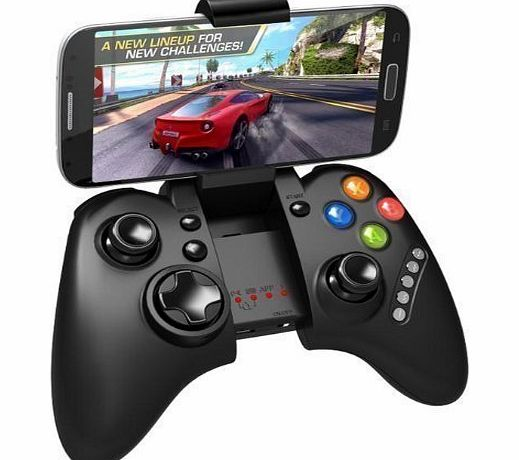 iPega PG-9021 Rechargeable Multimedia Bluetooth Controller with Telescopic Stand for iPhone/Android Smartphone Tablet PC (Black PG-9021)