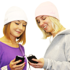 iPod Sound Hat - Buy a Pink One Get a White One