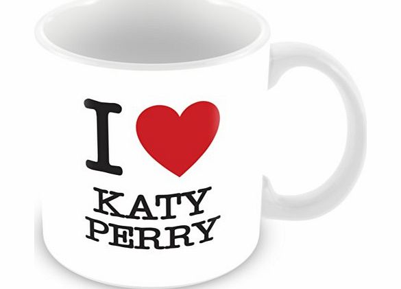 ITservices I Love Katy Perry Personalised Mug Gift (customise with any name, message, text, photo or colour) - Celebrity fan tribute