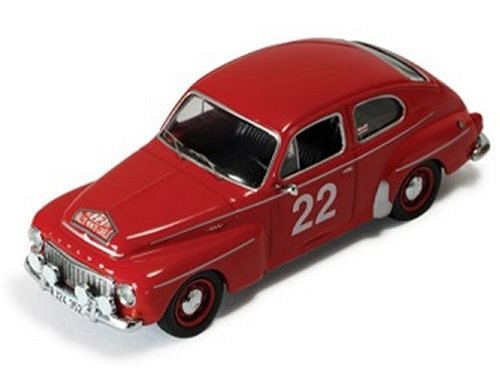 IXO Diecast Model Volvo PV544 (1965 Monte Carlo Rally) in Red (1:43 scale)