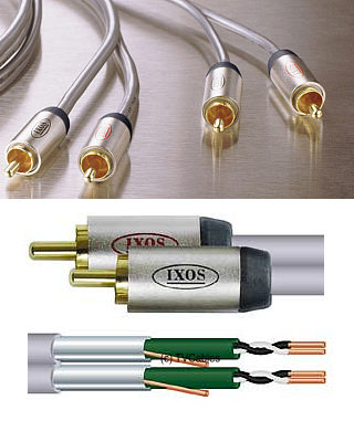 XFA02-100 1m Stereo Audio Cable 2x Phono