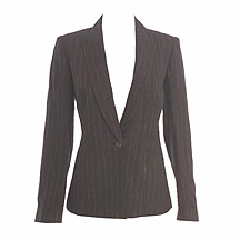 Brown pinstripe jacket