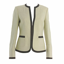 Natural jacket with chocolate trim
