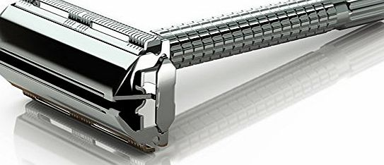 Jagen David � B30 - Butterfly Double Edge Razor Safety Razor Fits All Double Edge Razor Blades unique Christmas gift for him (Silver) product image