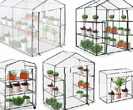 Jago Compact Walk-in Greenhouse Garden Terrace Balcony Plants PVC Growhouse (4.35 m³)