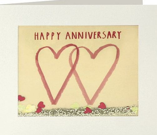 James Ellis Shakies Two Hearts Anniversary Card