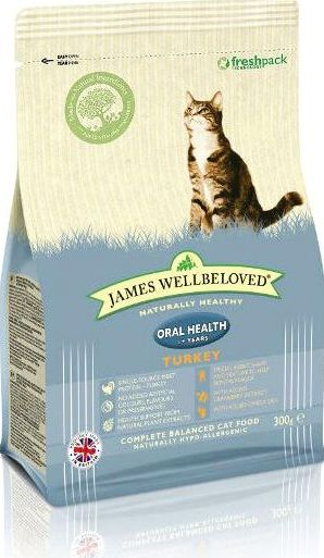 James Wellbeloved, 2102[^]0138570 Cat Kibble Oralcare Turkey and
