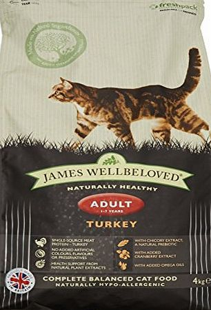 James Wellbeloved Dry Cat Food Turkey and Rice Adult 4 Kg
