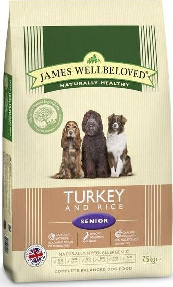 James Wellbeloved, 2102[^]0138531 Kibble Turkey and Rice Senior