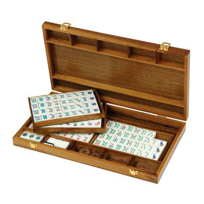 Jaques Black American Walnut Mah Jongg Set (55340 - product image