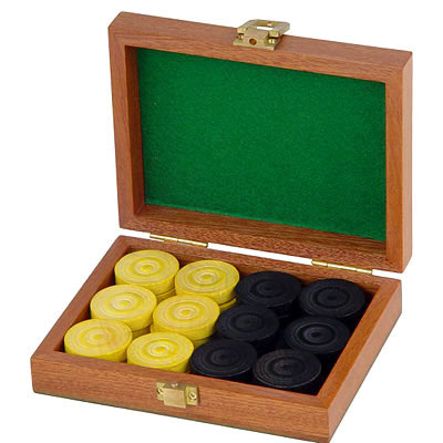 Jaques Boxwood Draughts Set (53221 - Boxwood Draughts product image