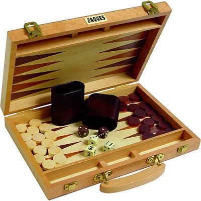 Jaques Oak Backgammon Sets (19 Backgammon product image