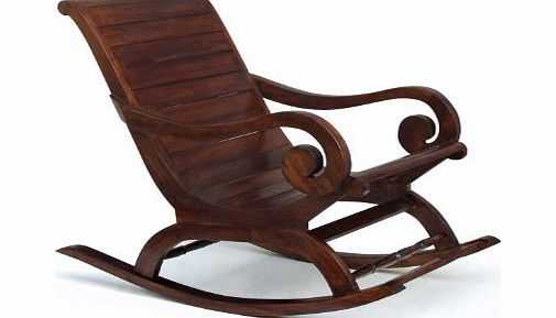Jati Hand Stained Antique Teak Wood Rocking Chair in Colonial Style and exceptional quality - Jati Brand, Quality amp; Value product image
